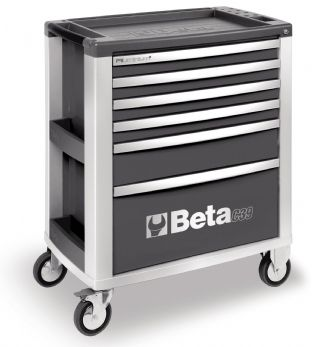 Beta C39 G/6 Mobile Roller Cab With Six Drawers (Grey)